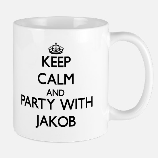 Keep Calm and Party with Jakob Mugs