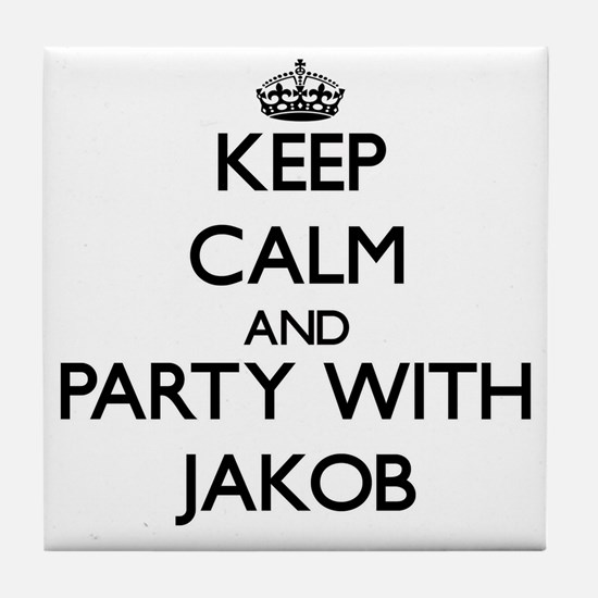 Keep Calm and Party with Jakob Tile Coaster