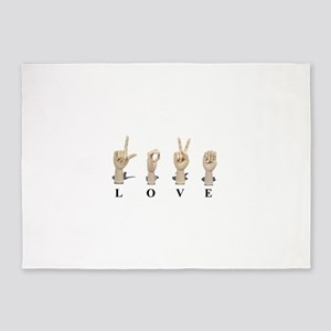 LoveAmeslan062511 5'x7'Area Rug