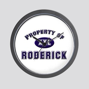 Property of roderick Wall Clock