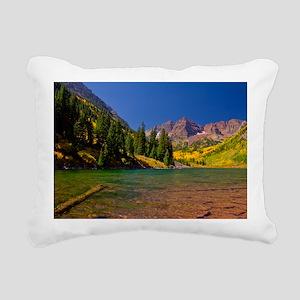 Maroon Bells Rectangular Canvas Pillow