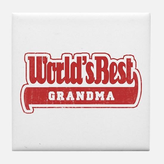 """""""World's Best Grandma"""" Tile Coaster"""