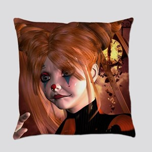 The sweet sad clown Everyday Pillow