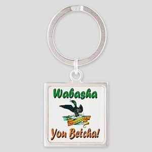 WabashaMinnesotaLoon Square Keychain