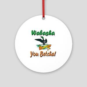 WabashaMinnesotaLoon Round Ornament