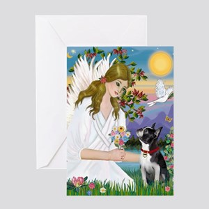 Angel Love - Boston Terrier (8x10) Greeting Card