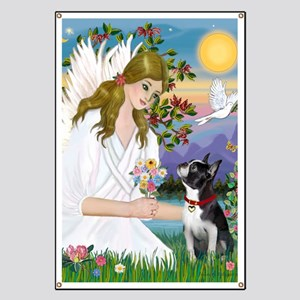 Angel Love - Boston Terrier (8x10) Banner