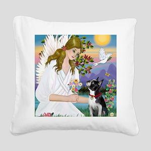 Angel Love - Boston Terrier ( Square Canvas Pillow
