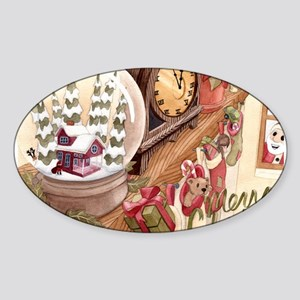holiday card1 Sticker (Oval)