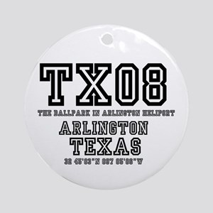 TEXAS - AIRPORT CODES - TX08 - THE Round Ornament