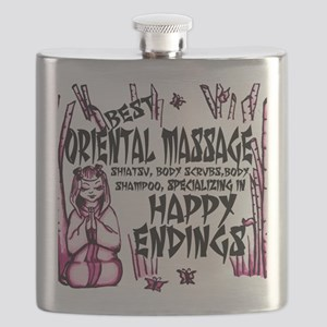 Happy Endings Pink Flask