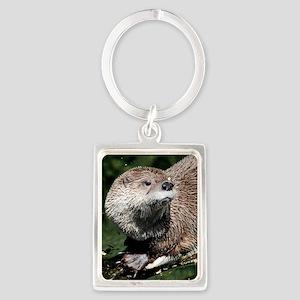 otter1_Lg_framed Portrait Keychain