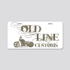 old line text Aluminum License Plate