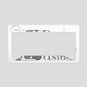 old line text License Plate Holder