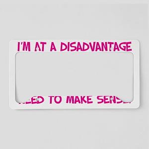 Disadvantage pink License Plate Holder