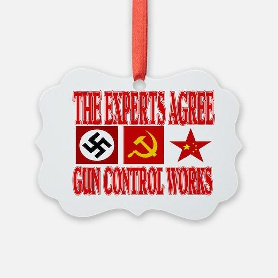 GUN CONTROL WORKS Ornament