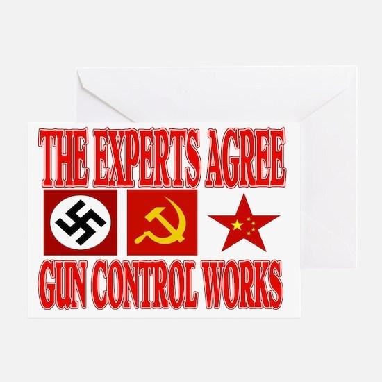 GUN CONTROL WORKS Greeting Card