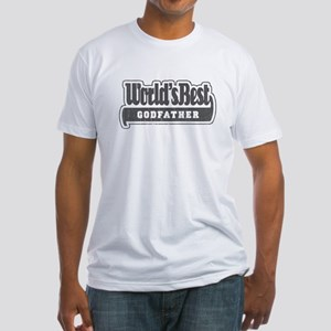 """""""World's Best Godfather"""" Fitted T-Shirt"""