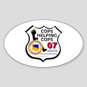 Cops Helping Cops Oval Sticker