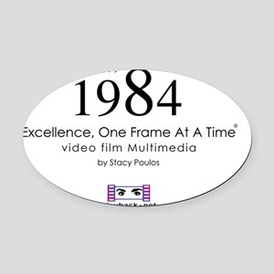 Excellence, One Frame At A Time Oval Car Magnet