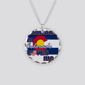 colorado Necklace Circle Charm