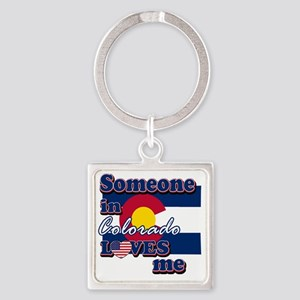colorado Square Keychain