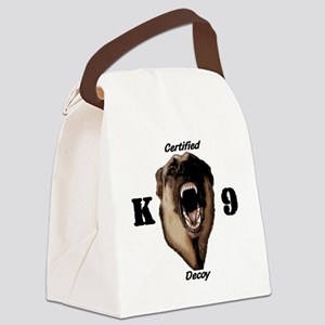 CK9D with dog  FRONT AND BACK 10x Canvas Lunch Bag