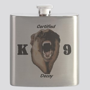 CK9D with dog  FRONT AND BACK 10x10_apparel Flask