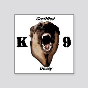 "CK9D with dog  FRONT AND BA Square Sticker 3"" x 3"""