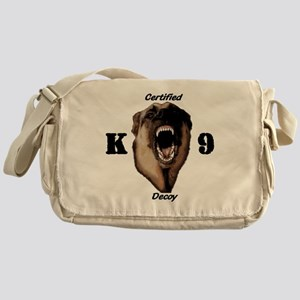 CK9D with dog  FRONT AND BACK 10x10_ Messenger Bag