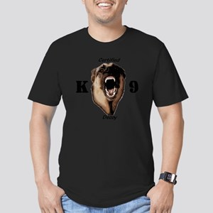 CK9D with dog  FRONT A Men's Fitted T-Shirt (dark)