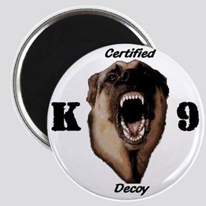 CK9D with dog  FRONT AND BACK 10x10_apparel Magnet