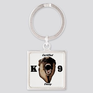 CK9D with dog  FRONT AND BACK 10x1 Square Keychain