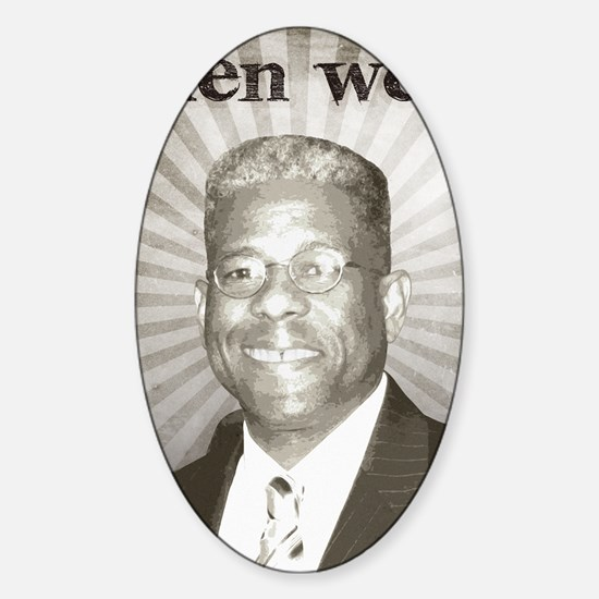 oct_allen_west Sticker (Oval)