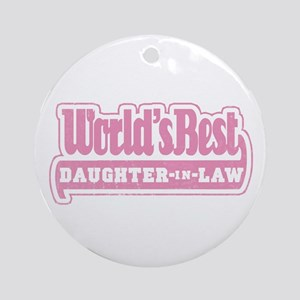 """World's Best Daughter-in-Law Ornament (Round)"