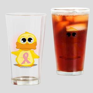 Peach-Ribbon-Duck Drinking Glass