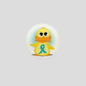 New-Teal-Ribbon-Duck Mini Button