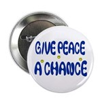 Give PEACE a Chance buttons (100 pack) - hippy