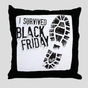 Black Friday Shirt Throw Pillow