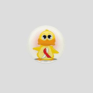 Red--White-Ribbon-Duck Mini Button