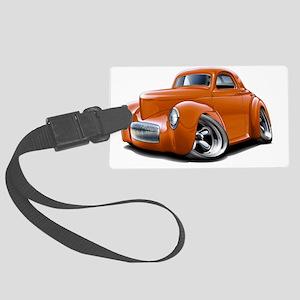 1941 Willys Orange Car Large Luggage Tag