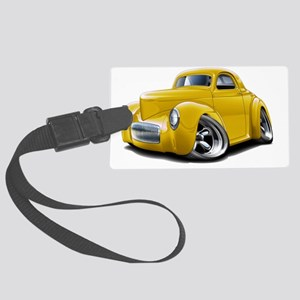 1941 Willys Yellow Car Large Luggage Tag