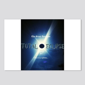 Total Eclipse 2017 Genuin Postcards (Package of 8)