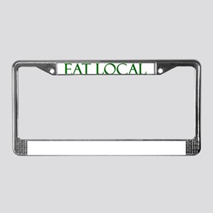 eat-local License Plate Frame