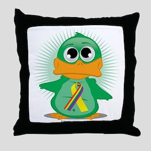 LGBT-Soldier-Ribbon-Duck Throw Pillow