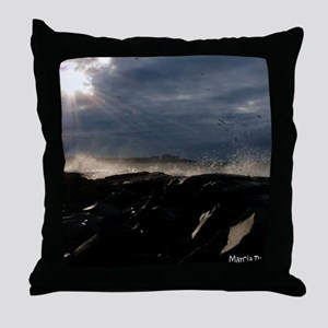 angry erie Throw Pillow