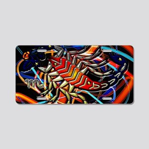 Scorpio Postcard Aluminum License Plate