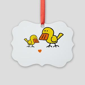 Duck Big Sis dk Picture Ornament