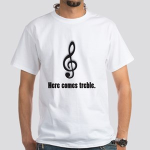 treble White T-Shirt
