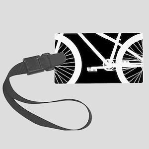 Black and White Bike Large Luggage Tag